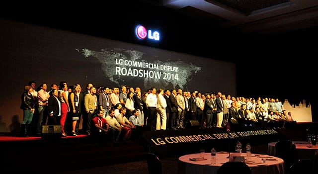 LG Commercial Display Roadshow 2014